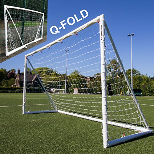 QuickPlay Q-Fold 12X6' | The 30 Second Folding Soccer Goal for Backyard [Single Goal] The Best Weatherproof Soccer Net for Kids and Adults - 2YR Warranty