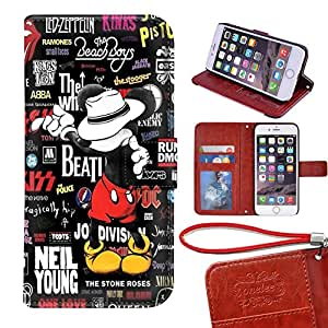 """Amazon.com: Mickey Mouse iPhone 7 plus 5.5"""" wallet Case"""