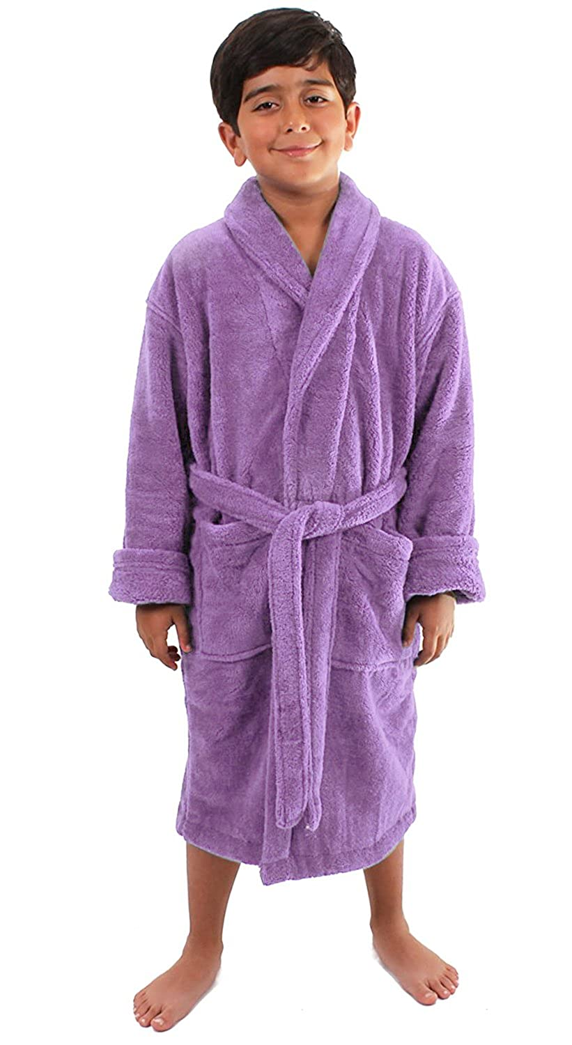 Turkuoise Boys Ultra Soft Plush Bathrobe Made in Turkey