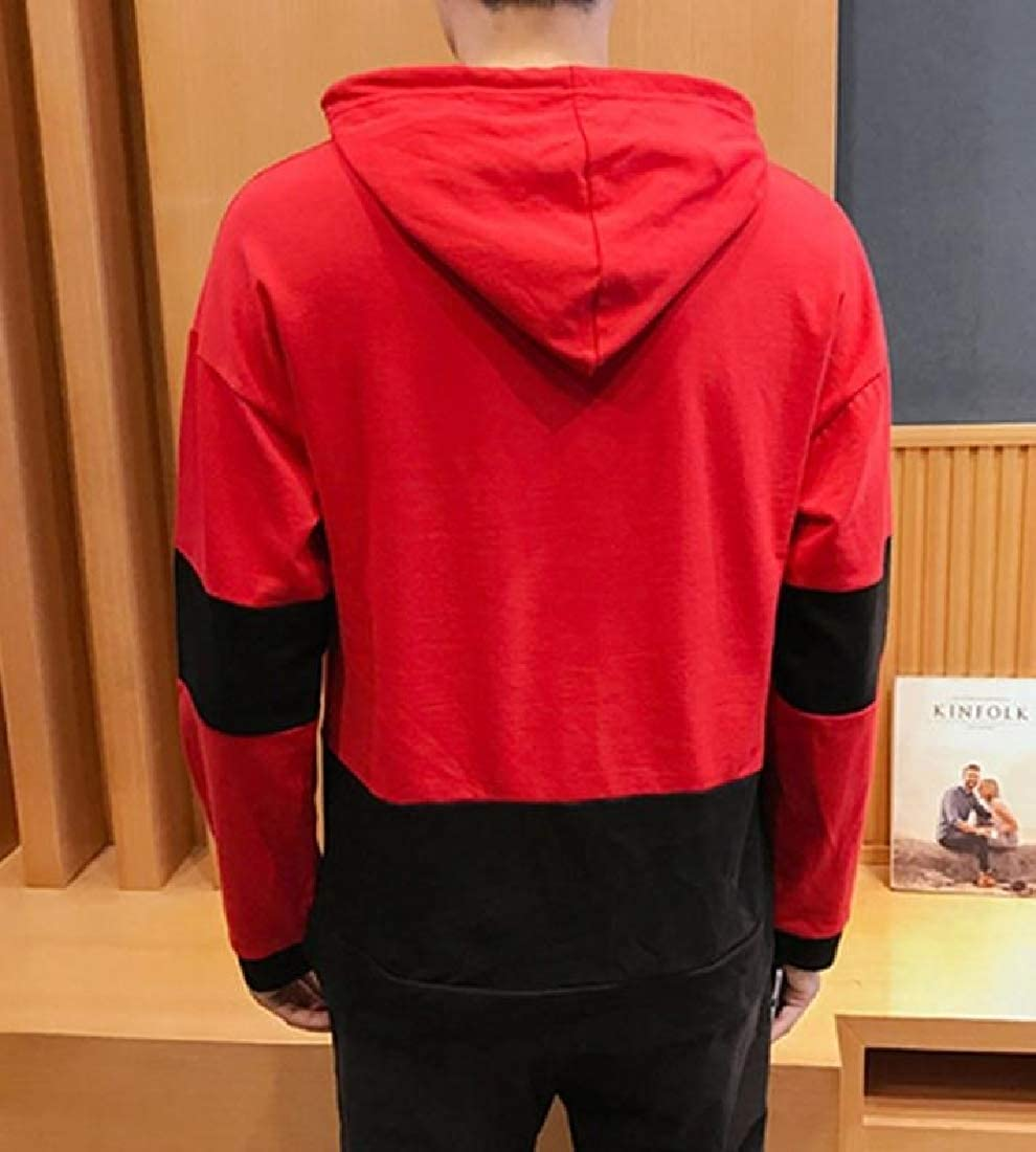 Mfasica Mens Hoodie Autumn Fashion Leisure Long Sleeve Pullover Sweatshirt