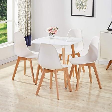 GOLDFAN Set tavolo da pranzo Eiffel con 4 sedie e tavolo
