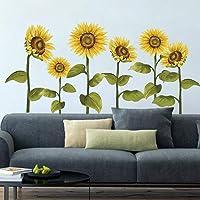 decalmile Pegatinas de Pared Girasol Vinilos Decorativos Flores de Jardín Adhesivos Pared Habitación Infantiles…
