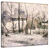 Paul Gauguin 'Winter Landscape' gallery-wrapped canvas A high quality print reproduction of an oil on canvas. This painting depicts the winter filled wonderland of a stark and plain country side in Vaugirard. This is one of the few of Gauguin's paint...