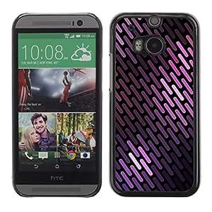 SKCASE Center / Funda Carcasa - Líneas Patrón escamas negras;;;;;;;; - HTC One M8