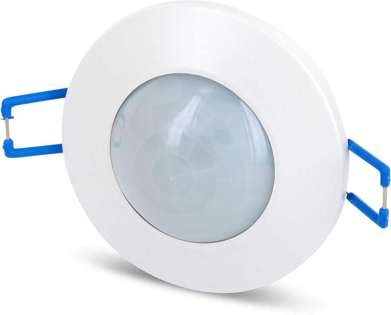 2 in1 IR Rilevatore di movimento a 360 °  –  INCASSO + struttura + con sensore crepuscolare –  LED adatto HAVA
