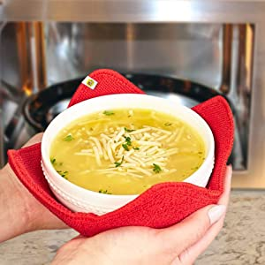 Old Home Kitchen Microwave Fabric Bowl Hugger Set - Carry Your Hot Dishes Easily