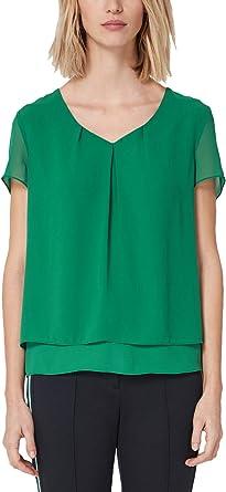 s.Oliver BLACK LABEL 11.902.12.5102 Blusa, Verde (Sailing Green 7614), 40 (Talla del Fabricante: 38) para Mujer: Amazon.es: Ropa y accesorios