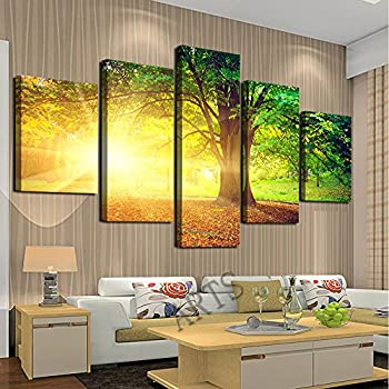 Amazon.com: Cao Gen Decor Art-AH40139, canvas Prints, 5 panels ...