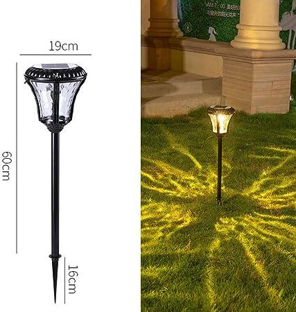 HLF- Farola LED Solar - Farola Decorativa Creativa IP55 Impermeable al Aire Libre Jardín Hotel Farola Decorativa: Amazon.es: Hogar
