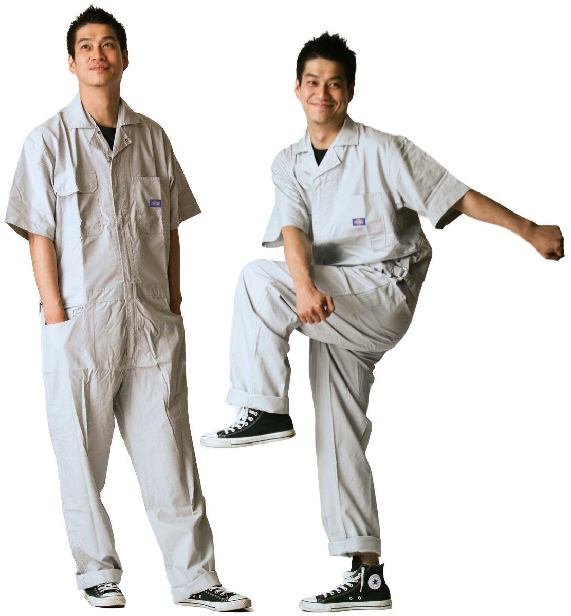 ディッキーズ Dickies (山田辰)夏用半袖 ツヅキ服 713 シルバーグレイ Lサイズ B008PO5TG8 L|シルバーグレイ