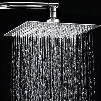 Soffione doccia, Toogou ultra-sottile in acciaio INOX e cromo lucido ...