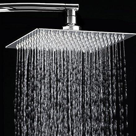 Soffione doccia, Toogou ultra-sottile in acciaio INOX e cromo ...
