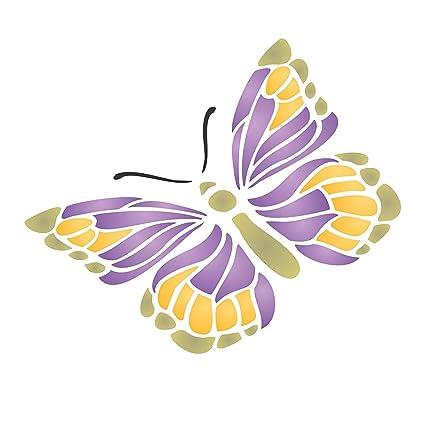 Mariposa Plantilla – reutilizable plantillas para pintura – mejor calidad insectos pared Art Decor Ideas –
