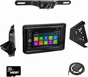 DVD GPS Navigation Multimedia Radio and Dash Kit for Polaris Slingshot 2015-2017 with Backup Camera