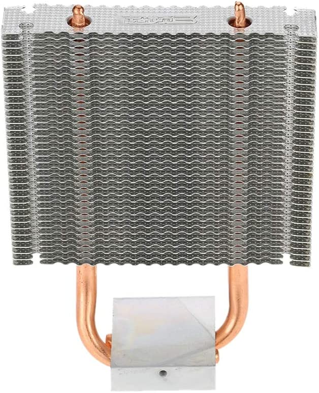 V2AMZ - Motherboard Northbridge Cooler 2 Heatpipes Radiator Aluminum Heatsink Southbridge Support 80mm Cooling Fan for Desktop