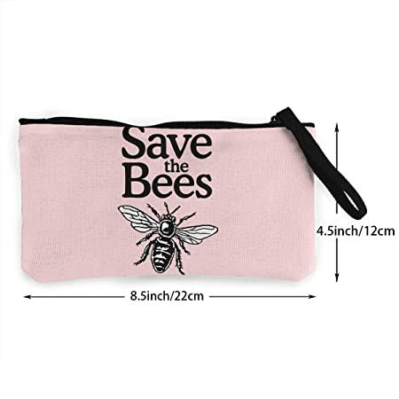 Serity Save The Bees - Monedero portátil de Lona con ...