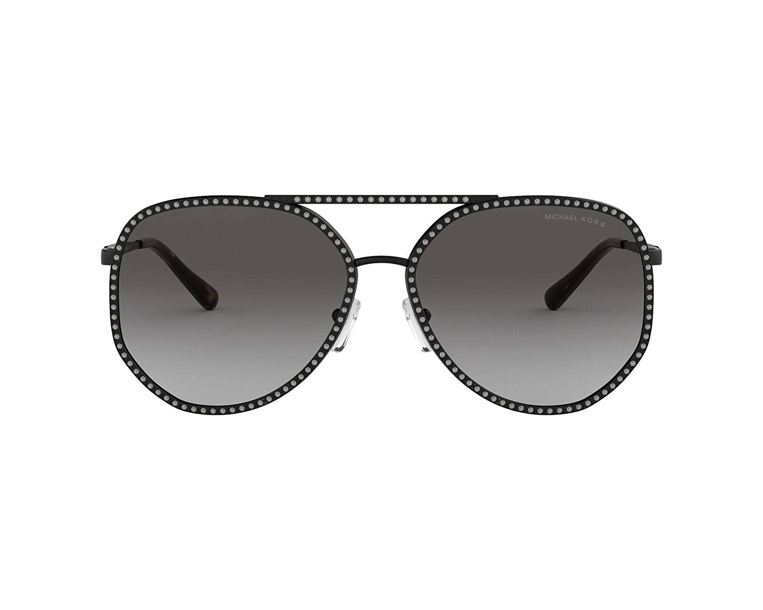 1c926d50a2 Amazon.com  Michael Kors Women s 0MK1039B 58mm Matte Black Light Grey  Gradient One Size  Clothing