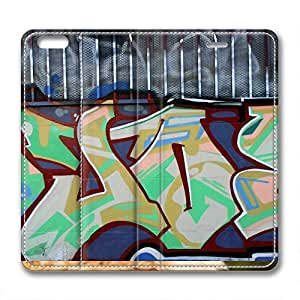 Leather Material Protective Case Cover For iPhone 6 New Design Shell Skin For iPhone 6with Graffiti
