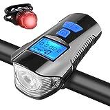 Tickas Luz LED para bicicleta Luz traseira para bicicleta USB Luz de cauda recarregável para bicicleta e farol dianteiro Conj