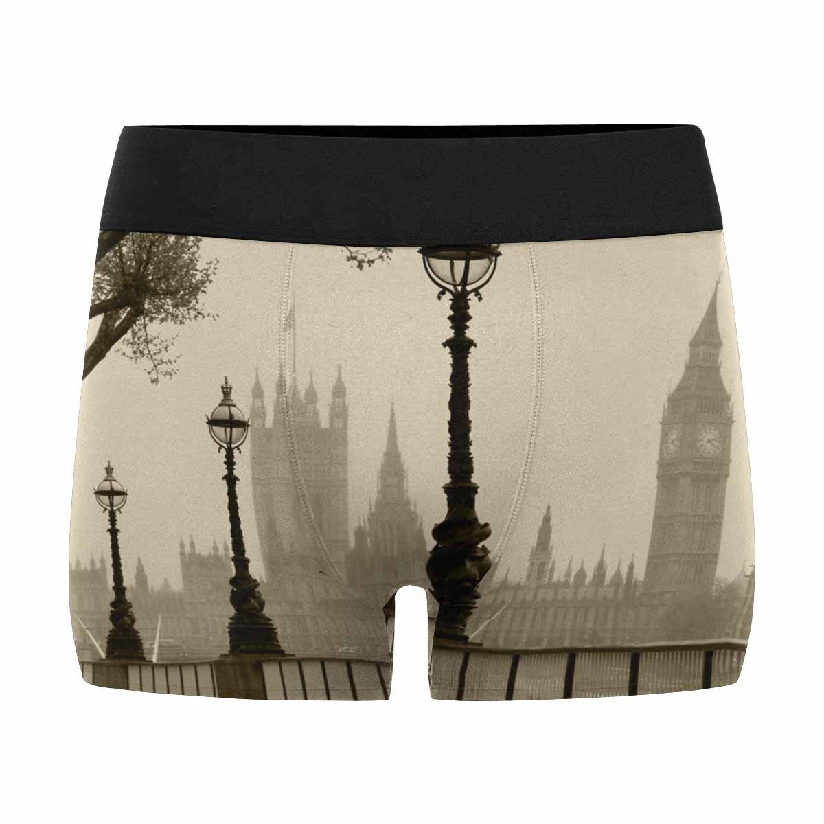 INTERESTPRINT Mens All-Over Print Boxer Briefs Big Ben /& Houses of Parliament London in Fog XS-3XL