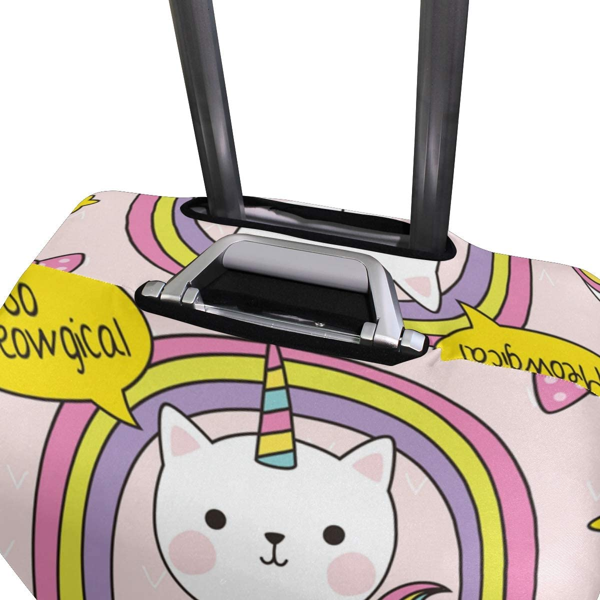 FOLPPLY Cute Cats Unicorn Luggage Cover Baggage Suitcase Travel Protector Fit for 18-32 Inch