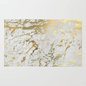 White And Gold Rug Home Decor