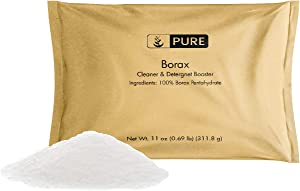 PURE Borax Powder (11 oz.), Pure Borax, Multipurpose Cleaning Agent, Ideal Slime Ingredient