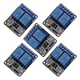 ManYee 5pcs 2 Channel 5v DC AC Relay Module Arduino Relay Module With Optocoupler Low Level Amplifier Trigger Expansion Board Board Shield For PIC AVR DSP ARM