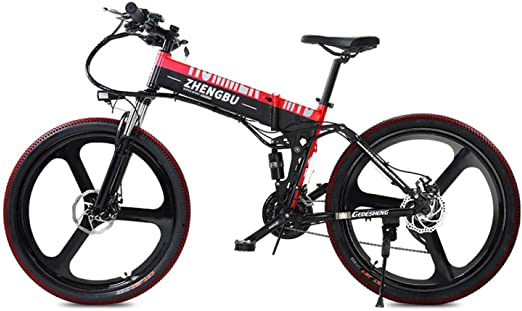 YUNYIHUI Bicicleta eléctrica Plegable, con batería de Litio ...