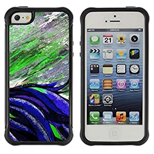 Hybrid Anti-Shock Defend Case for Apple iPhone 5 5S / Beautiful Abstract Painting