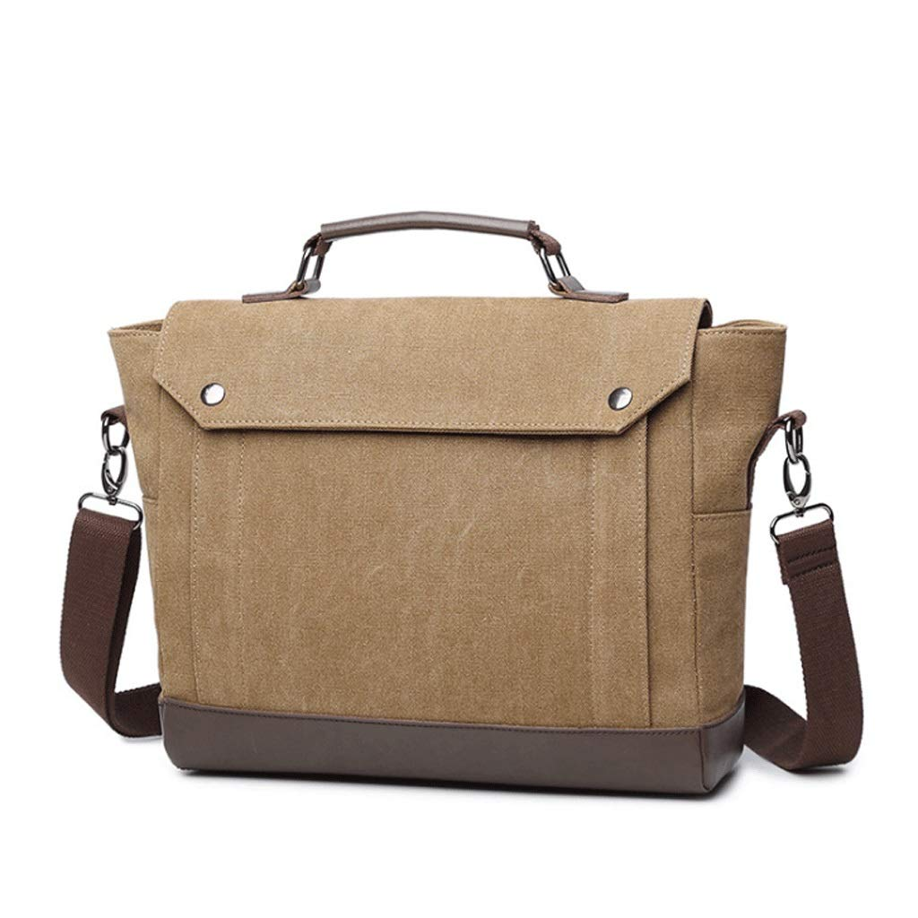 Color : Black, Size : S RXF Mens Shoulder Messenger Bag Canvas Portable High-end Computer Bag