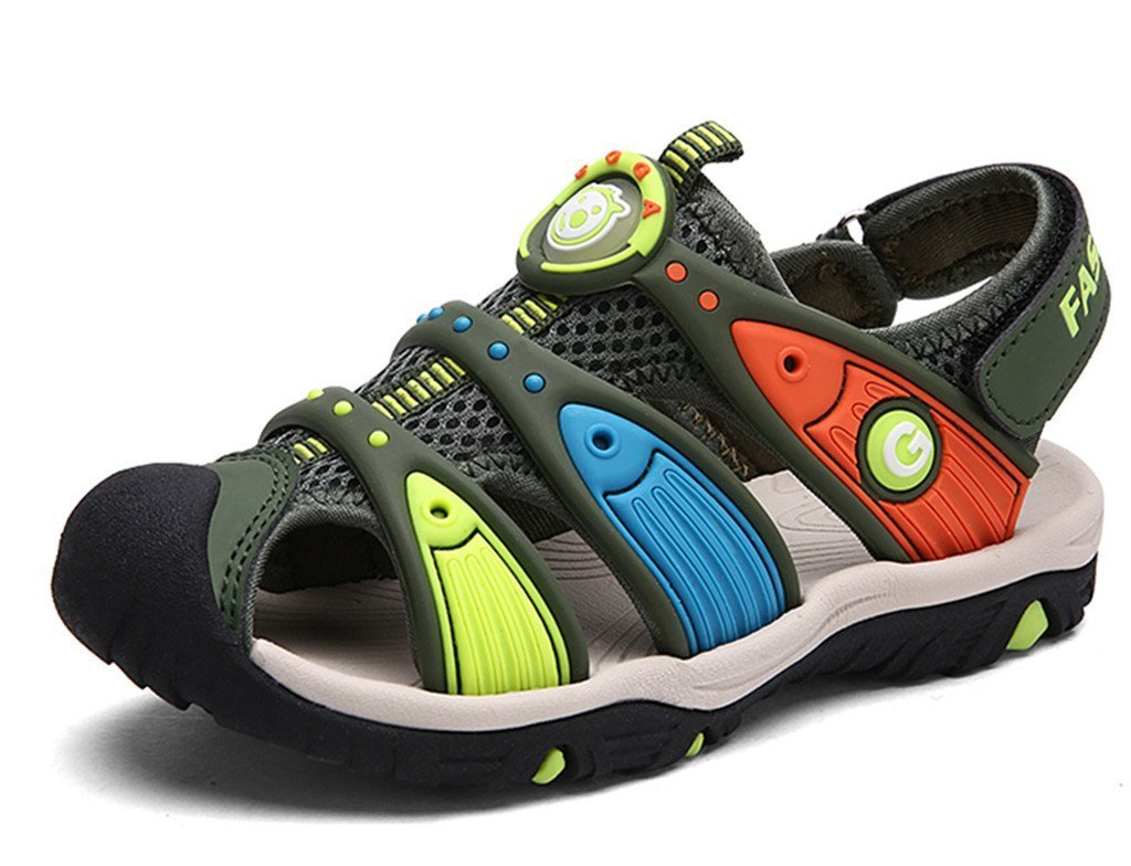 Zicoope Summer Outdoor Athletic Sandals for Boys(Toddler/Little Kid/Big Kid) Green 12 M