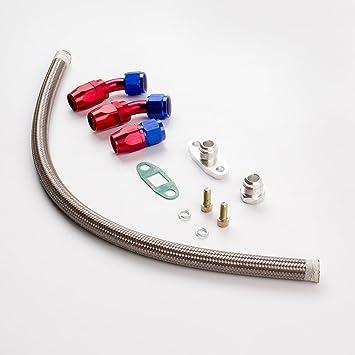 maXpeedingrods Univeral Línea de Aceite Turbo Piezas Turbocompresor para T3 T4: Amazon.es: Coche y moto