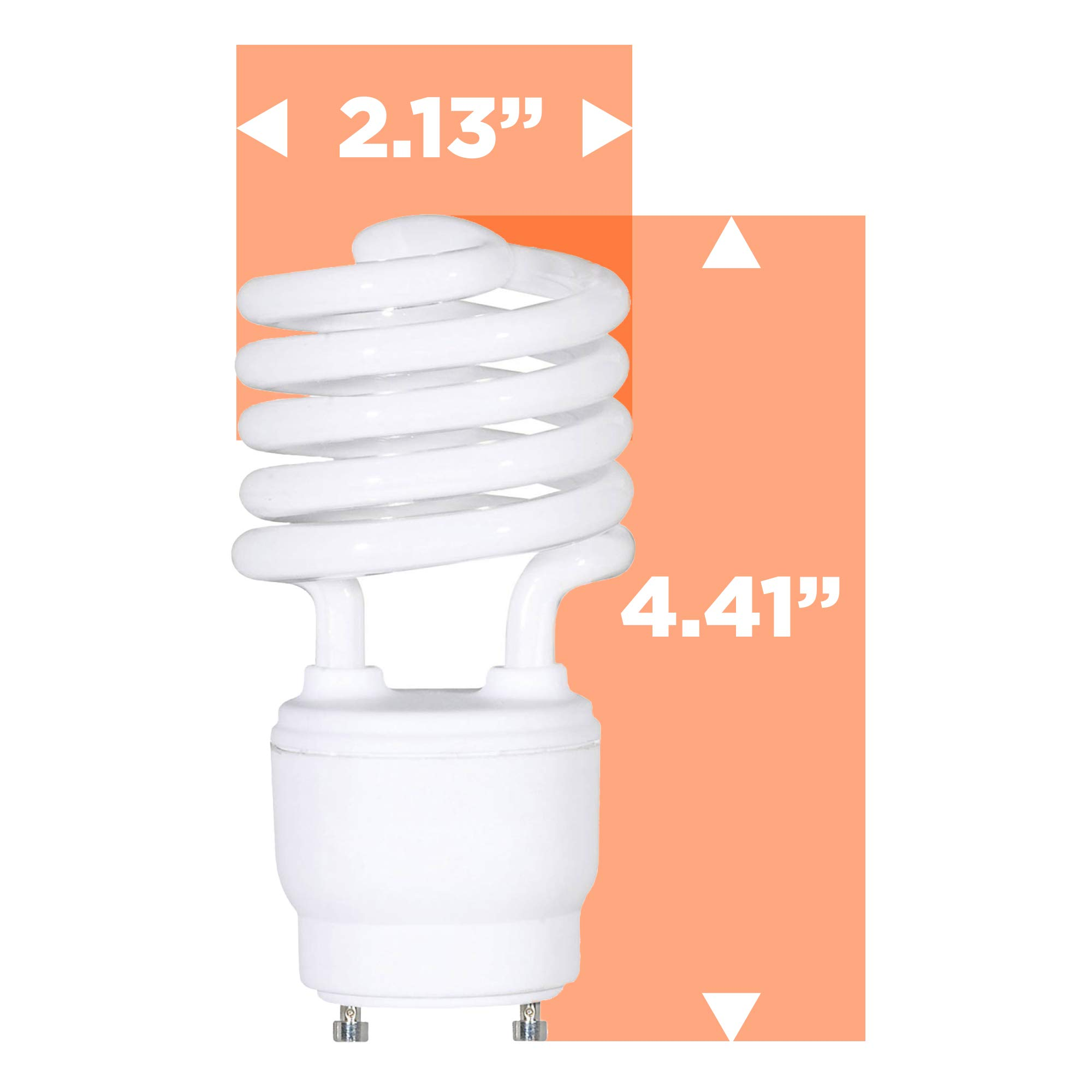 GoodBulb 23 Watt CFL Light Bulbs - T2 Spiral Compact Fluorescent - GU24 Light Bulb Base - 2700K 1600 Lumens - 4 Pack by GoodBulb (Image #7)