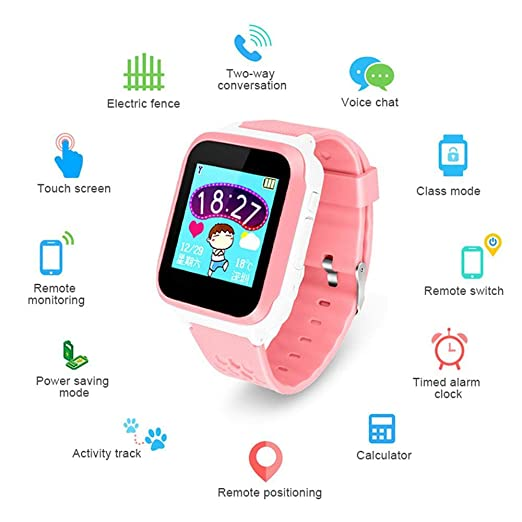 LayOPO Smartwatch GPS para niños, 1.44 Inch Touch Anti-Lost ...