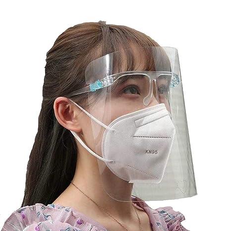 5 visori trasparenti in plastica dispositivo di protezione individuale anti droplet Made in Germany Visiera protettiva protezione occhi face shield INFEKT-PROTECT SHIELD di SCHWEIZER incl