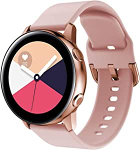 Samsung Galaxy Gear Watch Active/Active 2 40mm /44mm Replacement Strap Band for Watch Strap Watchband Wristband Smartwatch Bracelet (Rose Gold)
