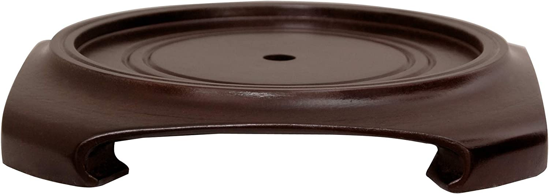 Oriental Furniture Rosewood Vase Stand - (Size 8 in. Base Diameter)