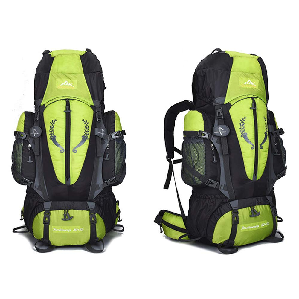 XGao Camping 85L Mountaineering Backpack Bag Hiking Outdoor Travel Rucksack Bags New (Green) by XGao