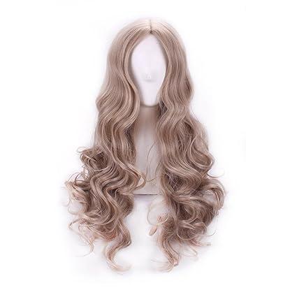 Cenicienta Cosplay peluca larga rizado pelo esponjoso gris alta temperatura pelucas de pelo para mujeres fiesta