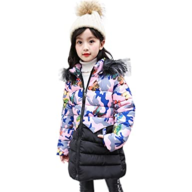 8426aedf2ff3 Vovotrade Girl Winter Long Coat Kids Fashion Butterfly Print Coat ...