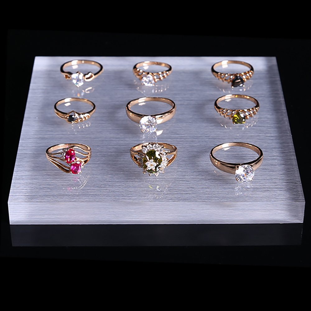 Display Block Platform Fine Exhibition Jewelry Art Store Gallery Trade Shows (Set of 5) (Glossy) by Svea Display (Image #2)
