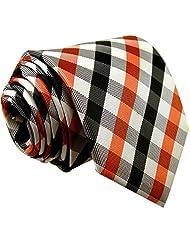 Shlax&Wing Extra Long Size Necktie Multi-color Checked Mens Tie Silk
