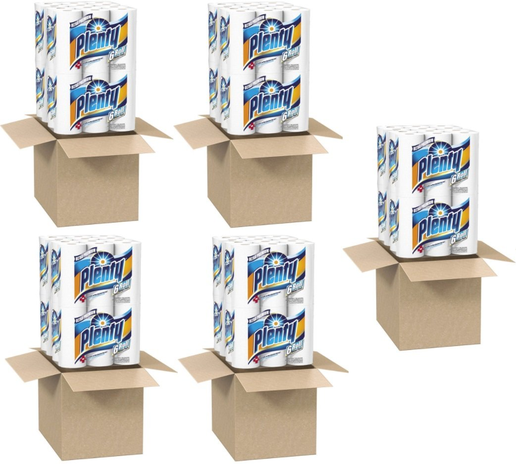 Plenty Ultra Premium Full Sheet Paper Towels, White, 24 Rolls (5 Pack) by Plenty (Image #1)
