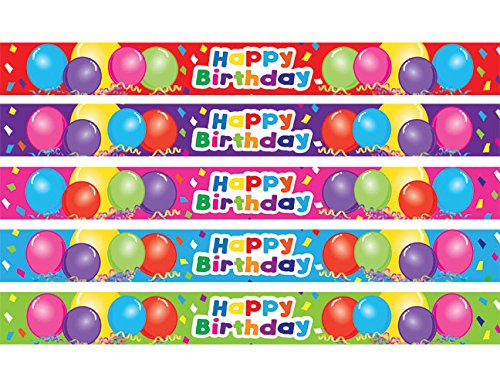 Teacher Created Resources Happy Birthday Balloons Slap Bracelets (20666) ()