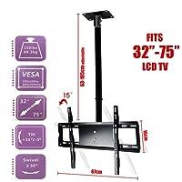 "Ceiling Roof TV Mount Adjustable Wall Bracket Tilt 32""-75"" LCD LED Plasma"
