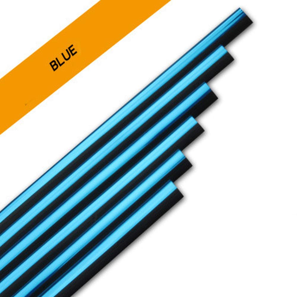 Blue 10Pcs Car Air Conditioner Outlet Vent Grille Decoration U Shape Molding Trim Strip,Car Styling Accessories