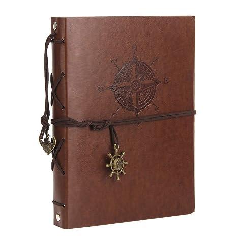 ThxMadam Álbum de Fotos de Piel Libros de Firmas para Boda Scrapbooking Album Cuaderno de Cuero