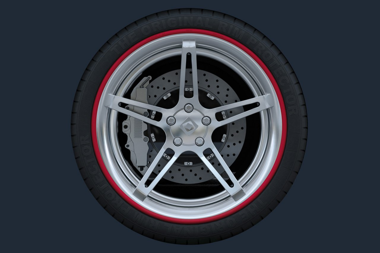 Ice Black 18 Inch Diameter Rim Ringz Alloy Wheel Protectors