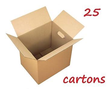 Lote de 10/25 cajas de cartón para mudanzas, muy resistentes (hasta 20
